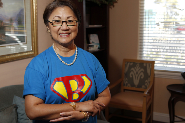 Aurora Wong, donor and collaborator to the future Ruffin Family Clinic, poses for a portrait at the Women's Wellness Center in Las Vegas Monday, Sept. 29, 2014. (Erik Verduzco/Las Vegas Review-Jou ...