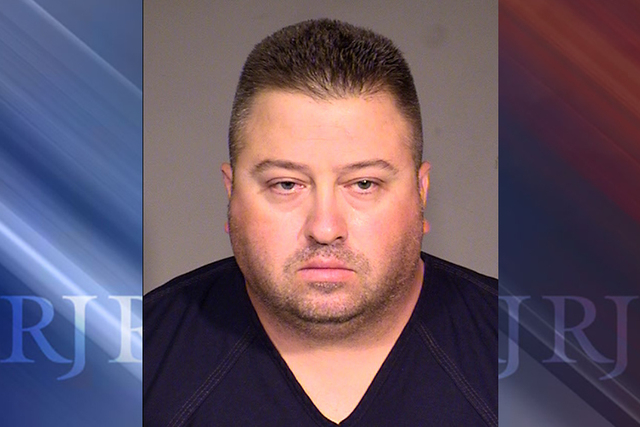 A Bullhead City officer is facing charges of attempted sexual assault following a Wednesday arrest after an incident at a bar, Las Vegas police said. (courtesy Las Vegas Metropolitan Police Depart ...