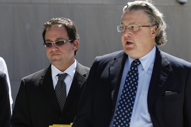 Attorneys Richard Schonfeld, left, and David Chesnoff on Tuesday, Aug. 5, 2014. (Erik verduzco/Las Vegas Review-Journal)