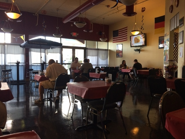 Patrons gather at Cafe Berlin, 4850 W. Sunset Road, Suite 100-105. (Maria Agreda/Special to View)