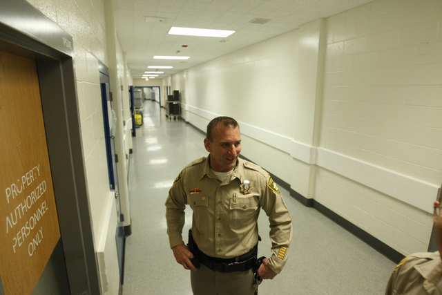 Clark County Detention Center Capt. Richard Suey gives a tour of their facility Friday, Oct. 3, 2014. (Erik Verduzco/Las Vegas Review-Journal)