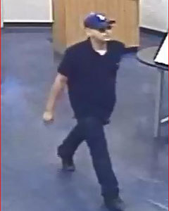 Las Vegas police are looking for this suspect in a string of robberies of cellphone stores. (Courtesy/Las Vegas Metropolitan Police Department)