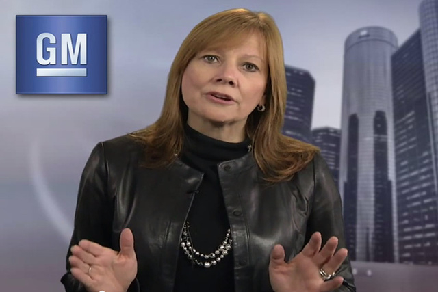 GM's CEO, Mary Barra (courtesy Facebook)