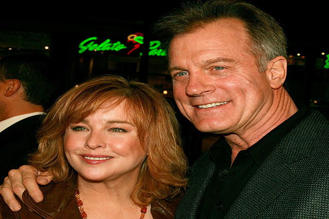"Actor Stephen Collins, right, and his wife Faye Grant arrive to the premiere of ""Blood Diamond"" held at Grauman's Chinese Theater on December 6, 2006 in Hollywood, California. (Kevin Winter/Getty  ..."