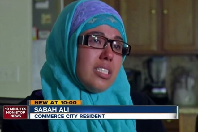 Sabah Ali talks to ABC-7 about her treatment at Commerce City Recreation Center. (Screengrab, ABC-7)