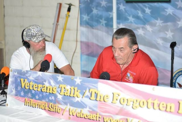 Individuals speak on air at a past One Hero at a Time benefit concert. This year's event is planned from noon to 10 p.m. Oct. 18 at the Jokers Wild, 920 Boulder Highway. (Special to View)
