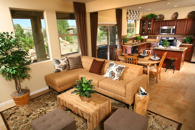 Courtesy photo The living room, nook and kitchen of Verona 1532 at Century Communities' Tuscany Village in Henderson. Home buyers can get up to $20,000 on new homes at Tuscany Village for a limi ...
