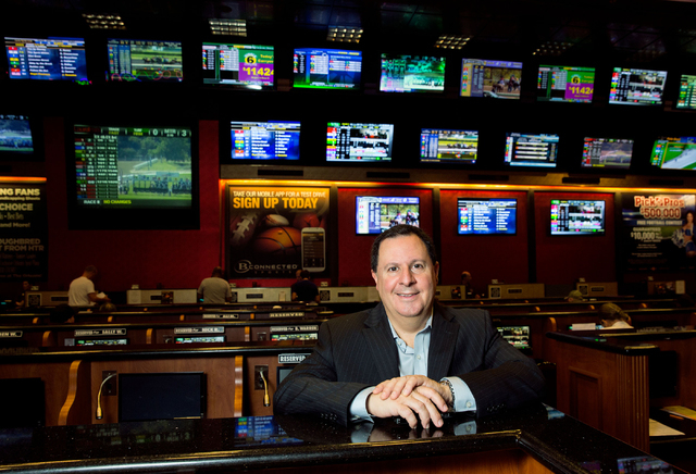 Bob Scucci, Boyd Gamingճ director of race and sports books, poses at The Orleans Friday, Sept. 26, 2014. Boyd Gaming Corp. launched B Connected Sports, a sports wagering application for mobi ...