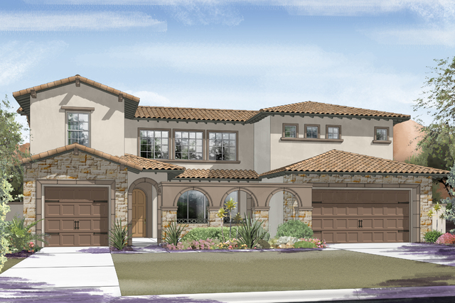 Courtesy photo An artist's rendering of the Marbella plan at Ryland's Capistrano neighborhood in Summerlin.