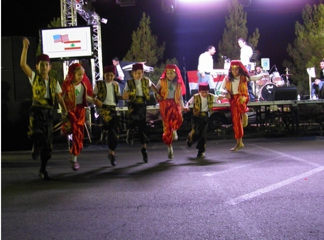 Children dance at a previous Lebanese American Festival. This year's festival is planned from 4 to 11 p.m. Oct. 10, 1 to 11 p.m. Oct. 11 and noon to 8 p.m. Oct. 12 at the St. Sharbel Mission of La ...