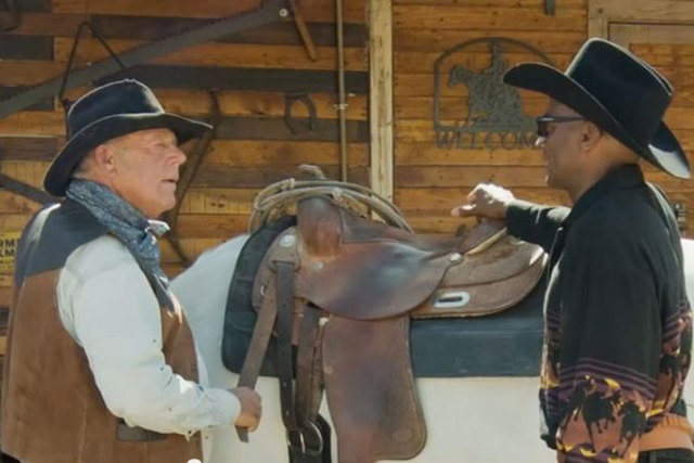 Rancher Cliven Bundy, left, appears in an online campaign ad with Kamau Bakari, a third-party candidate in the 1st Congressional District race. The commercial shows the two men lamenting political ...
