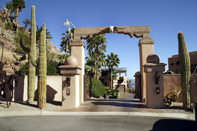 The entrance to Pirate's Cove still has the original Southwest look. Owner Craig Tillotson switched themes to create Pirate's Cove for his grandchildren. (Art Nadler/Real Estate Millions)
