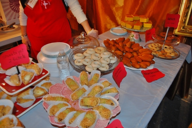 Desserts are displayed at a previous Lebanese American Festival. This year's festival is planned from 4 to 11 p.m. Oct. 10, 1 to 11 p.m. Oct. 11 and noon to 8 p.m. Oct. 12 at the St. Sharbel Missi ...