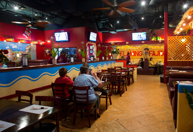 The interior of Juan's Flaming Fajitas and Cantina, located at 9640 W. Tropicana Ave. is photographed Saturday, Sept. 27, 2014. (Samantha Clemens-Kerbs/Las Vegas Review-Journal)