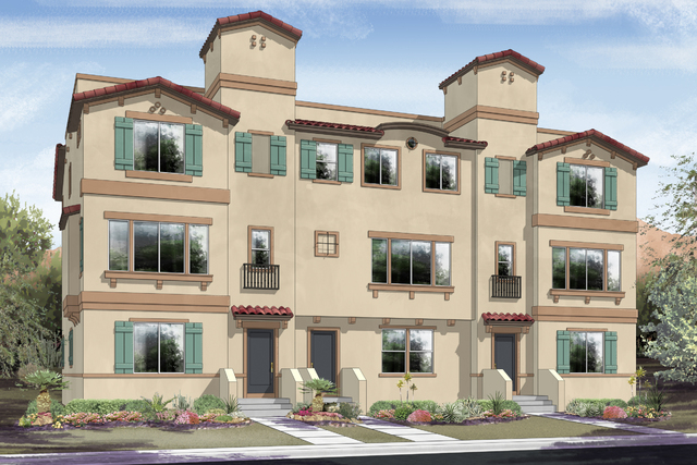 Courtesy photo An artists's rendering of the Loretto Bay townhome building in Henderson. Ryland Homes celebrates the grand opening of Loretto Bay today.