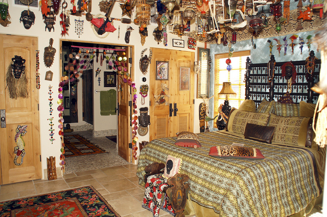 """Pirate Cove owner Craig Tillotson purchased items from around the world and spent many hours to create this """"voodoo Room."""" (Art Nadler/Real Estate Millions)"""