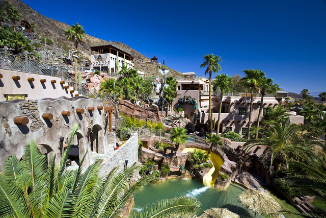 The Pirate's cove is in Boulder City with views of Lake Mead. It features water slides, pools and a replica of a pirate ship. Owner Derek Tillotson said it is a private getaway for his family and  ...