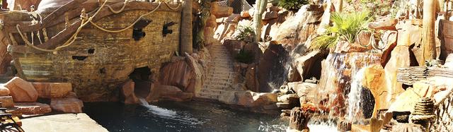 Pirate's cove has a replica of a ship. (Art Nadler/Real Estate Millions)