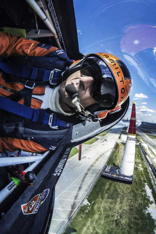 Nicolas Ivanoff of France performs during the sixth stage of the Red Bull Air Race World Championship at the Texas Motor Speedway in Fort Worth, Texas, United States on September 5, 2014. // Joerg ...