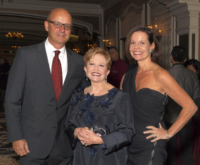 John Mangan, Nancy Houssels and Beth Barbre (Marian Umhoefer/Las Vegas Review-Journal)