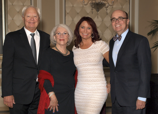 Ted and Maria Quirk, from left, BeBe Adams and Michael J. Brown (Marian Umhoefer/Las Vegas Review-Journal)