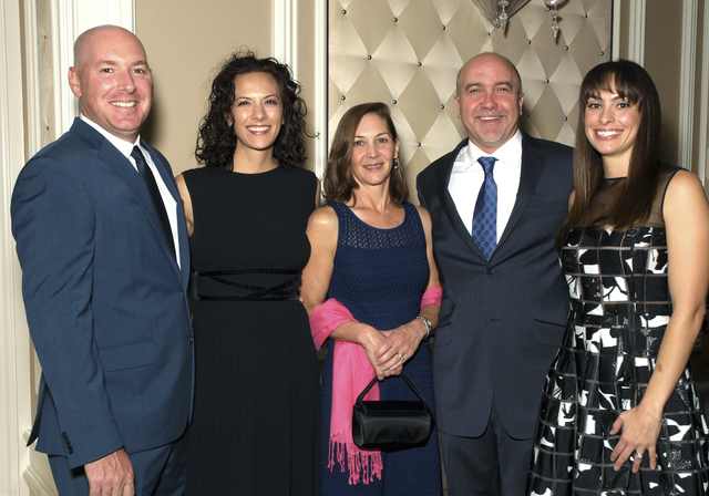 Colin and Danielle Smeeton, from left, Suzanne Rogers, and Perry and Nicole Rogers (Marian Umhoefer/Las Vegas Review-Journal)