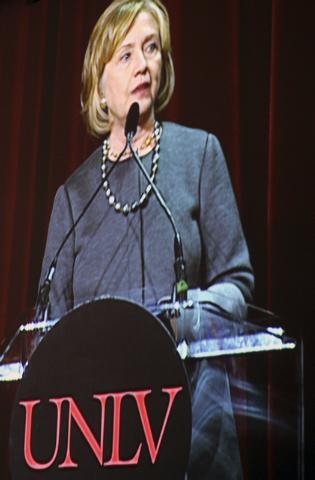 Hillary Clinton (Marian Umhoefer/Las Vegas Review-Journal)