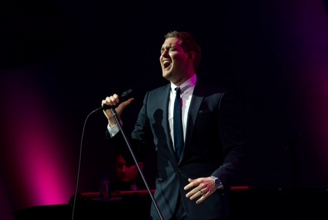 Michael Buble performed ala old Vegas Saturday at the intimate events center of the Lou Ruvo Cleveland Clinic for Brain Health. (Courtesy/Kelly McKeon)