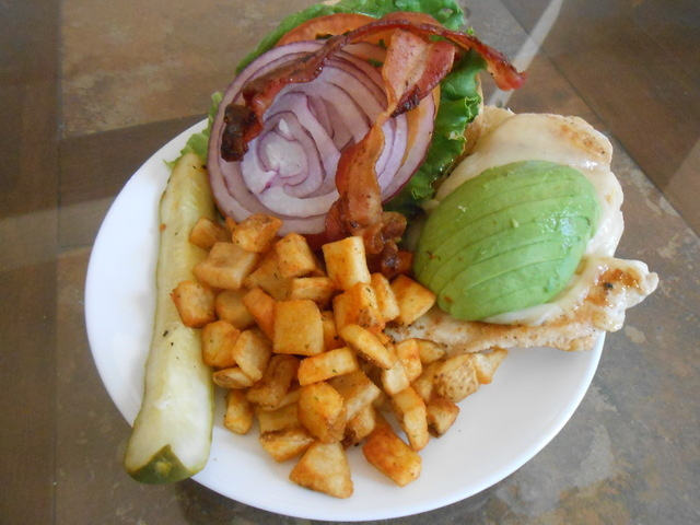 The Vegas Style Chicken Sandwich is shown at The Cracked Egg, 7660 W. Cheyenne Ave. (Jan Hogan/View)
