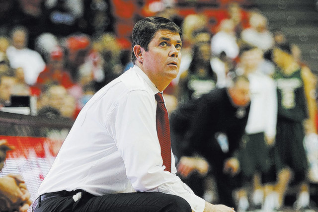 UNLV head coach Dave Rice will roll out a new-look team for UNLV's first official practice Monday at the Mendenhall Center. (Jason Bean/Las Vegas Review-Journal file)