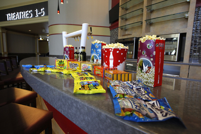 The Regal Downtown Summerlin 5 cinema in Las Vegas on Wednesday, Oct. 1, 2014. The cinema will offer viewers comfortable seats and the ability to drink alcohol and food while watching a movie. (Ju ...