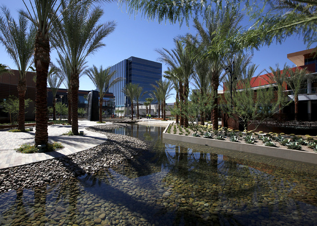A view of the office building in Downtown Summerlin on Monday, Oct. 6, 2014 in Las Vegas. (Justin Yurkanin/Las Vegas Review-Journal)