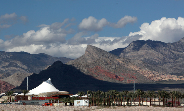 "The ""hat"" as seen from the east of Downtown Summerlin in Las Vegas on Friday, Sept. 26, 2014. Downtown Summerlin will open to the public on October 9, 2014. (Justin Yurkanin/Las Vegas Re ..."