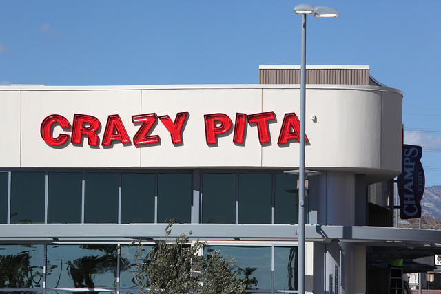 The Crazy Pita in Downtown Summerlin in Las Vegas on Friday, Sept. 26, 2014. Downtown Summerlin will open to the public on October 9, 2014. (Justin Yurkanin/Las Vegas Review-Journal)