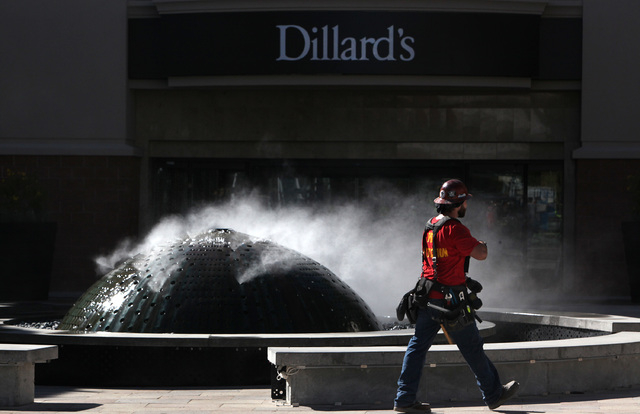 The fountain in from  of the Dillard's in Downtown Summerlin in Las Vegas on Friday, Sept. 26, 2014. Downtown Summerlin will open to the public on October 9, 2014. (Justin Yurkanin/Las Vegas Revie ...