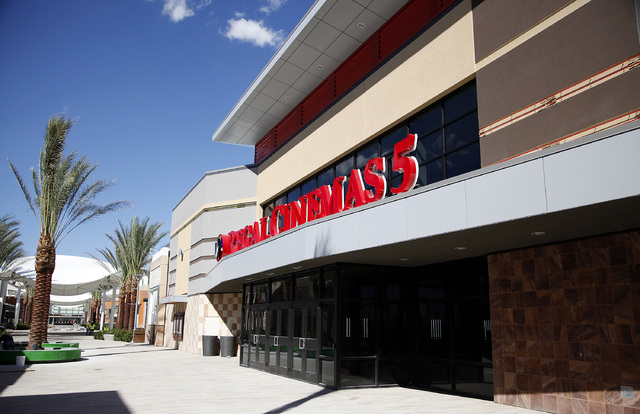 The Regal 5 Cinema will have five screens in Downtown Summerlin in Las Vegas on Friday, Sept. 26, 2014. Downtown Summerlin will open to the public on October 9, 2014. (Justin Yurkanin/Las Vegas Re ...