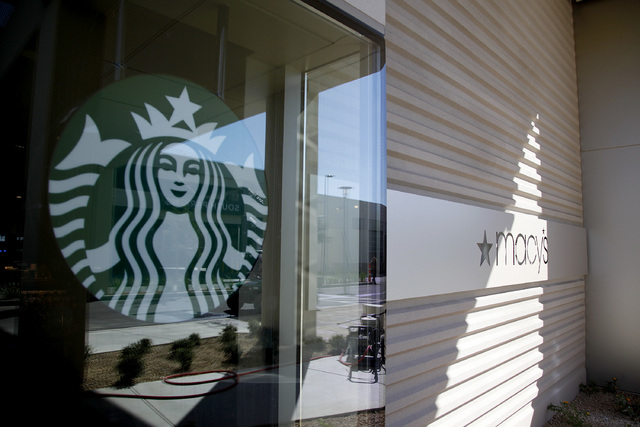 Starbucks at Macy's in Downtown Summerlin in Las Vegas on Friday, Sept. 26, 2014. Downtown Summerlin will open to the public on October 9, 2014. (Justin Yurkanin/Las Vegas Review-Journal)