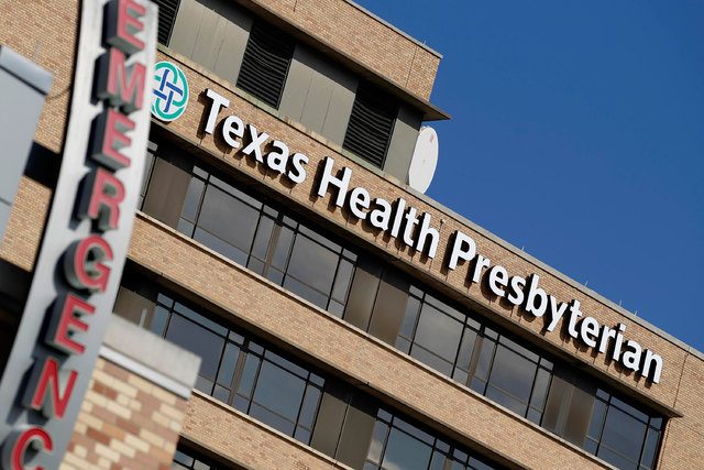 The first person to be diagnosed with the deadly Ebola virus in the United States is a patient in isolation at Texas Health Presbyterian Hospital in Dallas. (Reuters/Mike Stone)