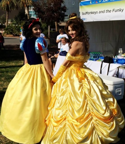 Lisa Coruzzi and a colleague appear as fairy tale characters in this undated photo. Coruzzi, a Summerlin resident, began a nonprofit foundation, Enchanted Encounters, in 2011. She and other young  ...