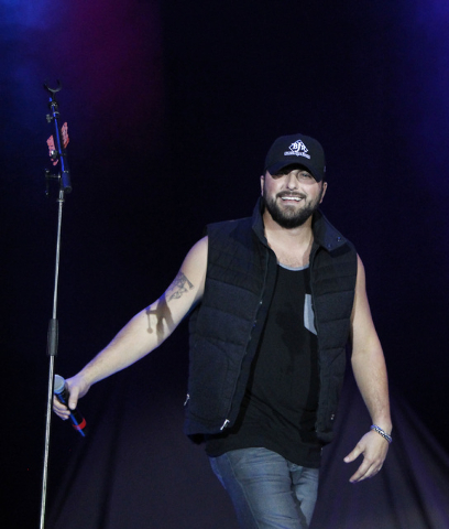 Tyler Farr performs at the Route 91 Harvest country music festival at the MGM Resorts Village in Las Vegas on Sunday, October 5, 2014. (Justin Yurkanin/Las Vegas Review-Journal)