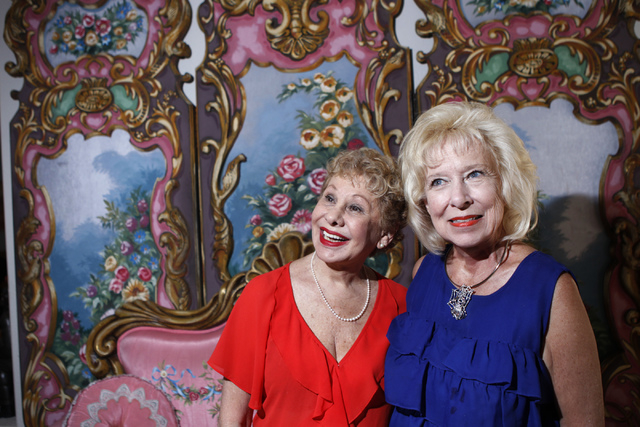 """Producer Carole Altman, left, and director Camille Duskin, for the the play, """"I know I came in here for something,"""" pose for a portrait at Hattie's House,  9109 Lazy Hill Circle, Saturda ..."""