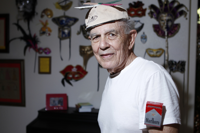 """Milton Zaslowsky, cast member of the play, """"I know I came in here for something,"""" poses for a portrait at Hattie's House,  9109 Lazy Hill Circle, Saturday, Oct. 11, 2014. (Erik Verduzco/ ..."""