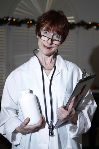 """Susan Haller, cast member of the play, """"I know I came in here for something,"""" poses for a portrait at Hattie's House,  9109 Lazy Hill Circle, Saturday, Oct. 11, 2014. (Erik Verduzco/Las  ..."""
