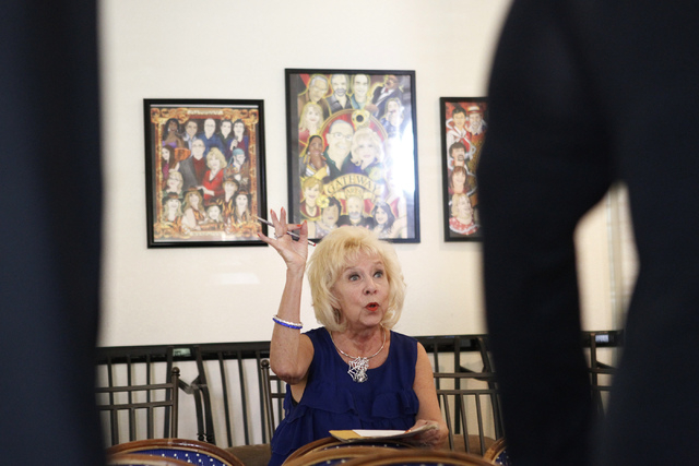 """Camille Duskin, director for the the play, """"I know I came in here for something,"""" instructs her cast members during a rehearsal at Hattie's House,  9109 Lazy Hill Circle, Saturday, Oct.  ..."""
