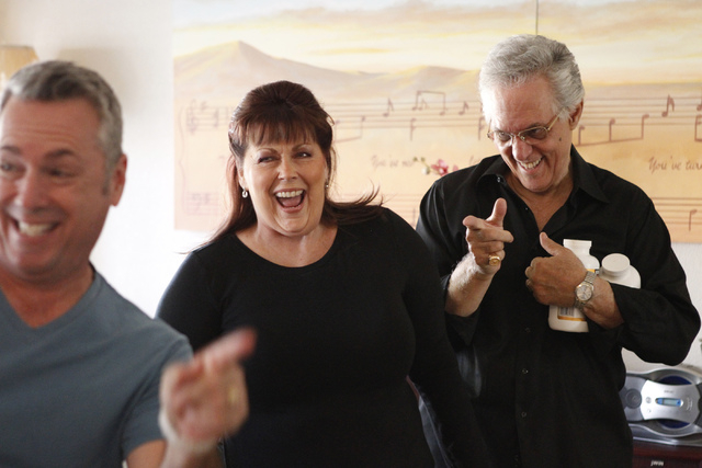 """Jay Joseph, from left, Jeneane Marie, and Victor Moea, cast members of the play, """"I know I came in here for something,"""" rehearse their scene at Hattie's House,  9109 Lazy Hill Circle, Sa ..."""