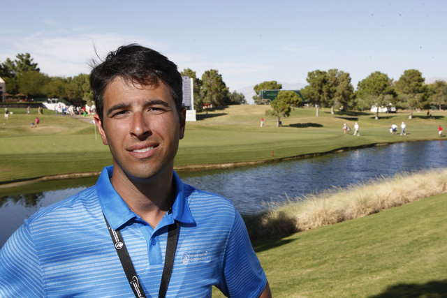 Adam Sperling, director for the Shriners Hospitals for Children Open golf tournament, poses for a portrait at TPC Summerlin, 1700 Village Center Circle, in Las Vegas Friday, Oct. 17, 2014. (Erik V ...