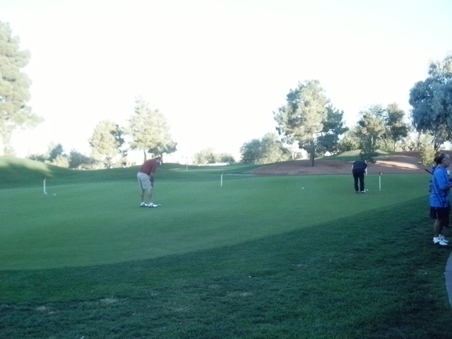 Golf players play during a golf tournament to support Chefs for Kids program. The fourth annual Chefs for Kids charity golf tournament is planned at 7 a.m. Oct. 12 at Painted Desert Golf Course, 5 ...