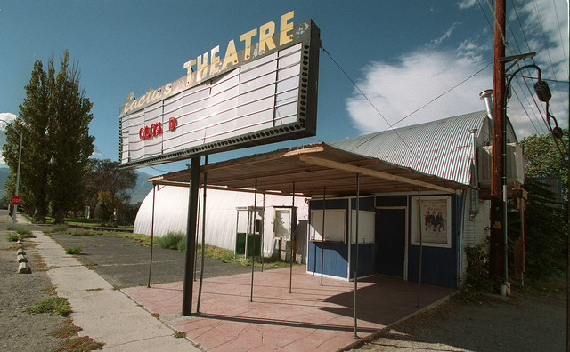 The closed down Cactus THEATRE, a converted quonset building in Hawthorne - Mineral County - Nevada, shown Nov. 1, 1997. (Clint Karlsen/Las Vegas Review-Journal)