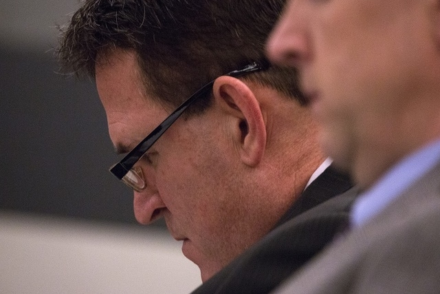 Assembly District 10 Democratic candidate Jesse Holder attends a challenge hearing at the Regional Justice Center on Wednesday, Oct. 29, 2014. Shelly Shelton, the GOP candidate, filed a complaint, ...