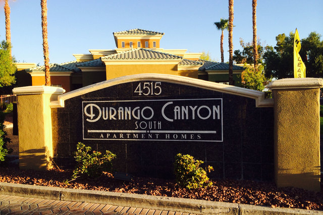 A man is hospitalized after being shot while breaking into a southwest valley home in the Durango Canyon apartment complex early Friday morning, Las Vegas police said. (Bizu Tesfaye/Las Vegas Revi ...